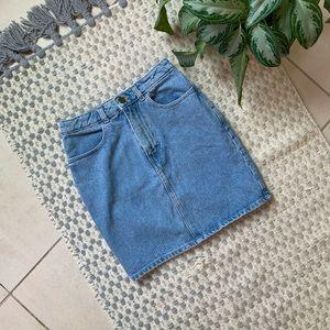 High Waisted Vintage Denim American Apparel Skirt